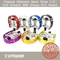 "Tipsum Odyssey Bear Trap 9//16/"" Old School BMX Sharp Pin Pedal fit 3 Piece Crank"