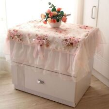 Dust-proof Rectangular Table Cover Decoration Pink Flower Lace Table Cloths
