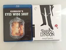 Barry Lyndon Criterion Collection & Eyes Wide Shut Unrated Blu Ray Kubrick
