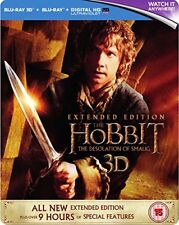 The Hobbit The Desolation Of Smaug - Extended Edition Steelbook [Blu-ray 3D  B