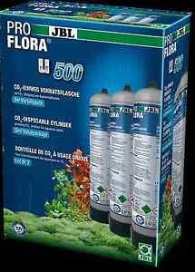 JBL ProFlora U500 x3 disposable co2 bottle pro flora gas aquarium canister tank