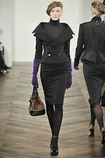 NWT $998.00 Ralph Lauren Purple Label Collection 100% Cashmere Skirt Size 4