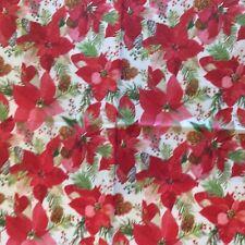 paper napkins decoupage x 2 Christmas poinsettia  21cm
