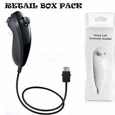 NUEVO negro NUNCHUK NUNCHUCK controlador remoto para NINTENDO Wii U + 1 año de garantía