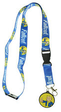 Fallout Reversible Breakaway Keychain Lanyard with ID Holder, Vault Boy Rubber