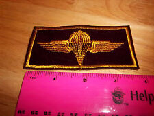 Army Paratrooper embroidered patch, gold on maroon, nice patch!