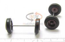 ALBEDO/HERPA Räder Reifen schwarz Felgen braunrot LKW hinten 10 Stk 1:87 H0 R024