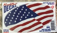 Knock Out Decal American Flag Patriotic Easy On Easy Off Sticker, NEW