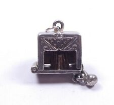 Very Rare Vintage Silver Nuvo Charm Bowling Alley Opens To Pins 925 Sterling