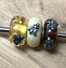 Trollbeads Day Wings Of Amber Bead #1 Left To Right