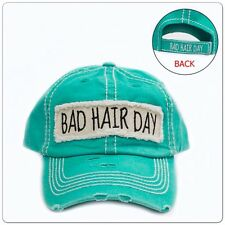 Bad Hair Day  Gypsy Turquoise Hat Distressed Cap