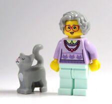 LEGO 1 MINIFIGURA Abuela con gato sin Cesta FIGURA DE COLECCIONISTA Serie 11 NEU