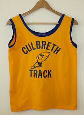 Russell Athletic Vtg 1970s Track Jersey Shirt Tank Top Winged Foot P-Wing Wmn 12
