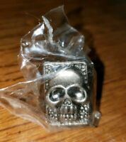 1996 THE PHANTOM MOVIE PROMO METAL SKULL RING STILL IN PLASTIC! NM/MT BRAND NEW