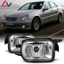 For Mercedes-Benz W203 00-04 Clear Lens Pair Bumper Fog Light Lamp Replacement