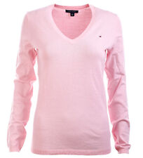 Tommy Hilfiger V-Neck Damen Pullover Pulli Strickpullover Größe rosa XS-XXL