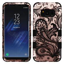 Samsung Galaxy S8 Phoenix Flower Henna Hybrid Protector Military Grade Case