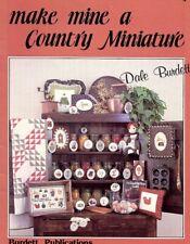 Make Mine A Country Miniature Dale Burdett Cross Stitch Pattern Booklet
