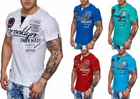Herren T-Shirt Top Shirt Clubwear Brooklyn Kragen Polo M L XL XXL NEU