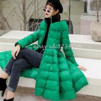 Frauen Neue Winter Dame Langen Dünn Baumwolle Jacke Synthetik Daune Mantel Mode