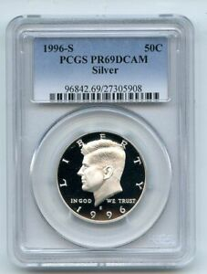 1996 S 50C Silver Kennedy Half Dollar Proof PCGS PR69DCAM