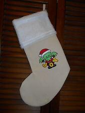 Cthulhu Santa Joy, Steampunk HANDMADE EMBROIDERED CHRISTMAS STOCKING *FREE SHIP