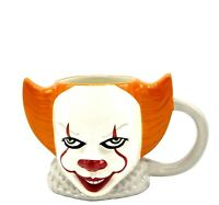 "IT ""PENNYWISE"" CERAMIC SCULPTED 3D MUG-21 OUNCES. *MINT"