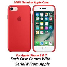 Genuine Apple iPhone 8/7 Slim Silicone Red  Case Cover Retail Packing