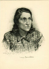 1947 Soviet Russian card portrait of novelist Vanda Vasilevskaya (W.Wasilevska)