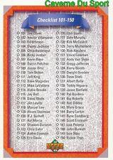 200 CHECKLIST 101-200 CL  BASEBALL CARD UPPER DECK 1992