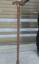 "36"" China boxwood wood Hand-carved Wealth Dragon Crutch Cane Wand Walking stick"