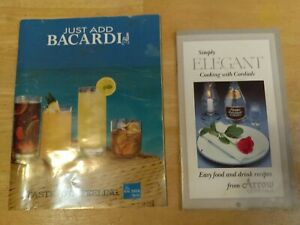 Lot of 2 1980s Collectible ARROW Cordials & Bacardi cocktails Booklet w/ Recipes