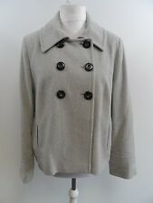 Pure Collection Wool Cashmere Grey Double Breasted Coat Ladies Size 16 Box4239 G