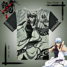 Japanes Anime Gin Tama Sakata Gintoki T-shirt Full Color Printing Casual Tee HOT