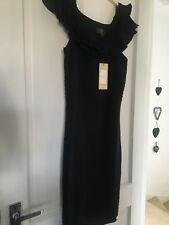 Black Lipsy Dress Size 12 Knitted Bnwt
