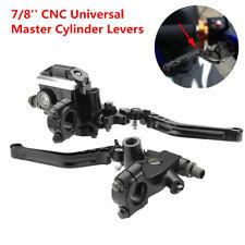 7/8'' CNC Universal Motorcycle Brake Clutch Master Cylinder Lever Set Reservoir