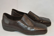 Caprice Womens Brown Leather Shoes/Loafers Size UK 5.5 G
