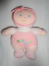 "Doll kids preferred 2005 pink baby rattle 8"" stuffed plush Asthma friendly lovey"