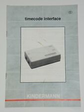 Originale Bedienungsanleitung manual Kindermann timecode interface f.Projektor