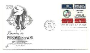 JH 1421-22  DAV + POW, on one  ArtCraft pencil address erased, FDC Montgomery