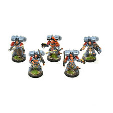 SPACE WOLVES  5 assault squad skyclaws #1 PAINTED Warhammer 40K