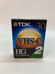 2 Pack TDK TC-30HGL2 VHSC HG Ultimate Camcorder Tape VHS-C BRAND NEW SEALED