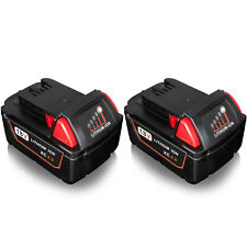 2x For MILWAUKEE M18 48-11-1840 Lithium Ion 4.0Ah 18V Battery 4000MAH M18B4 UK