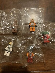 lego star wars minifigures lot (5) sealed