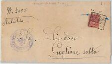 64137 - ITALIA REGNO - STORIA POSTALE : COLLETTORIA di LONATO su BUSTA  1888