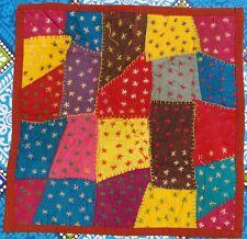 Housse de coussin Patchwork Taie de coussin Coton Fait main Inde Multicolore