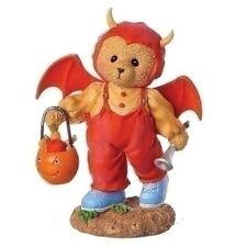 Cherished Teddies 'Scarlet' 2018 New Halloween Dressed in Bat Costume 132076