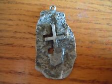 Vintage Metal Handcrafted Religious Cross Medal/Pendant