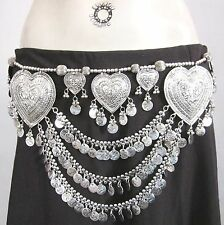 Unique Belly Dance Coin Belt Tribal Gypsy Bohemian Cosplay Boho Costume Jewelry