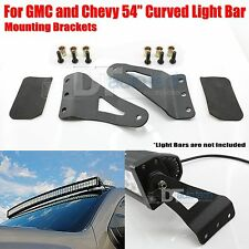 07-14 Chevy/GMC 54 Inch Curved LED Light Bar Upper Windshield Mounting Brackets